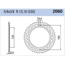 Rear sprocket Honda CBR 929/954 Z43