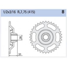 Rear sprocket Aprilia RS 50cc Z43