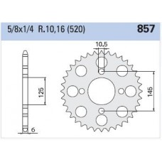 Rear sprocket Yamaha XTZ 660 Z45