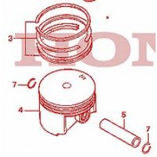 Piston set Honda NX650 Dominator 88-