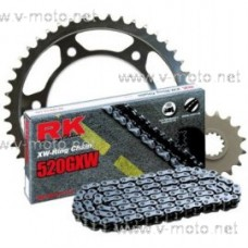 Kit chain RK + sprocket NHM for track