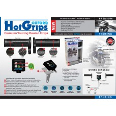 Heated grips Oxford Touring 120-110mm