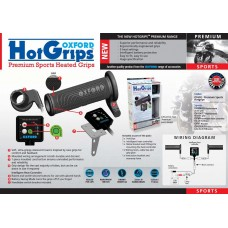 Heated grips Oxford Sport 123-114mm