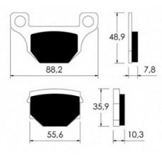 Brake pads p10735