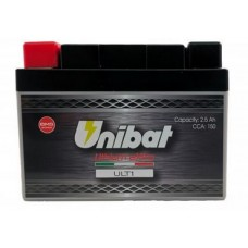 Battery Unibat ULT1 12.0V 2.5Ah 150CCA LiFePo4