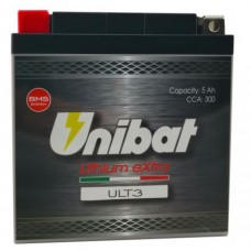 Battery Unibat ULT3 12.0V 5Ah 300CCA LiFePo4
